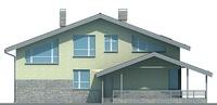Проект кирпичного дома 72-00 фасад
