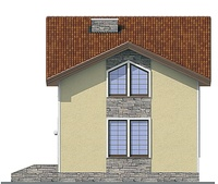 Проект кирпичного дома 72-02 фасад