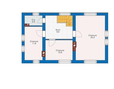Проект кирпичного дома 72-02 план