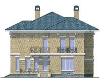 Проект кирпичного дома 72-03 фасад