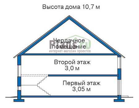 Проект кирпичного дома 72-03 план