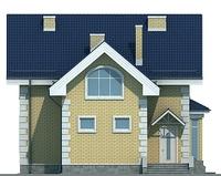 Проект кирпичного дома 72-04 фасад