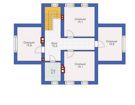Проект кирпичного дома 72-04 план