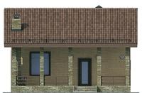 Проект кирпичного дома 72-06 фасад