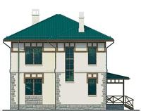 Проект кирпичного дома 72-07 фасад