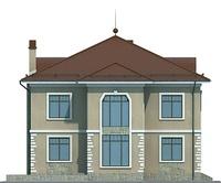 Проект кирпичного дома 72-08 фасад