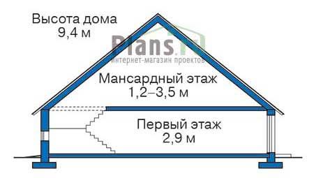 Проект кирпичного дома 72-11 план