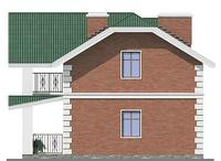 Проект кирпичного дома 72-12 фасад