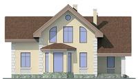 Проект кирпичного дома 72-13 фасад