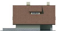 Проект кирпичного дома 72-14 фасад