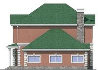 Проект кирпичного дома 72-16 фасад