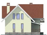 Проект кирпичного дома 72-17 фасад