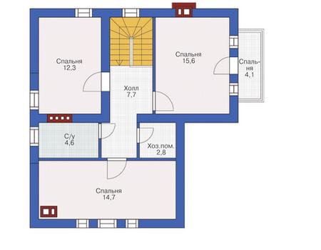 Проект кирпичного дома 72-17 план