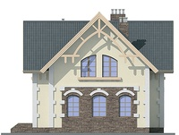 Проект кирпичного дома 72-18 фасад