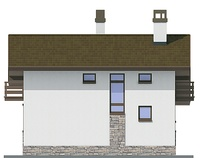 Проект кирпичного дома 72-19 фасад