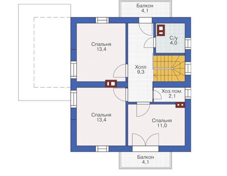 Проект кирпичного дома 72-19 план