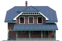 Проект кирпичного дома 72-20 фасад