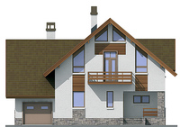 Проект кирпичного дома 72-21 фасад