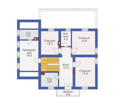 Проект кирпичного дома 72-21 план