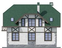 Проект кирпичного дома 72-22 фасад
