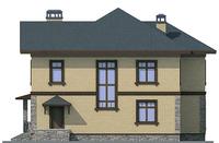 Проект кирпичного дома 72-24 фасад