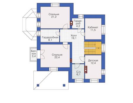 Проект кирпичного дома 72-24 план
