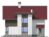 Проект кирпичного дома 72-25 фасад