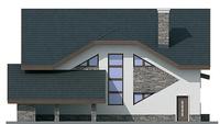 Проект кирпичного дома 72-26 фасад