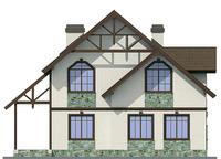 Проект кирпичного дома 72-27 фасад