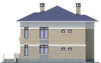 Проект кирпичного дома 72-28 фасад