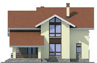 Проект кирпичного дома 72-29 фасад