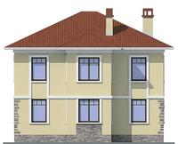 Проект кирпичного дома 72-30 фасад