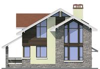 Проект кирпичного дома 72-32 фасад