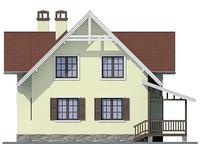 Проект кирпичного дома 72-33 фасад