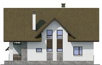 Проект кирпичного дома 72-34 фасад