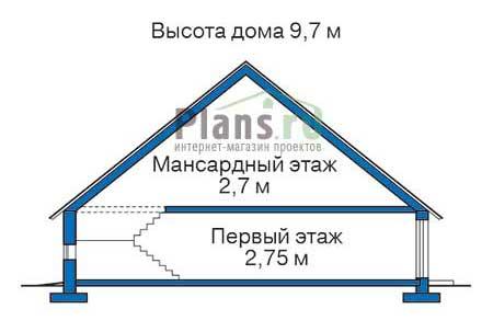 Проект кирпичного дома 72-34 план