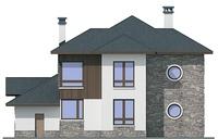 Проект кирпичного дома 72-35 фасад
