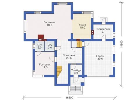 Проект кирпичного дома 72-35 план