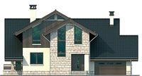 Проект кирпичного дома 72-36 фасад