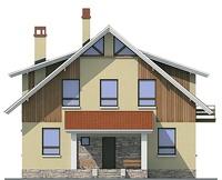 Проект кирпичного дома 72-37 фасад