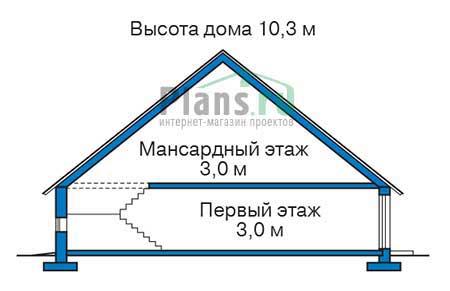 Проект кирпичного дома 72-37 план