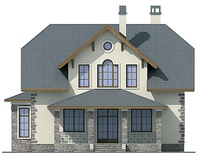 Проект кирпичного дома 72-38 фасад