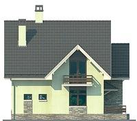 Проект кирпичного дома 72-39 фасад