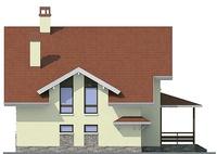 Проект кирпичного дома 72-40 фасад