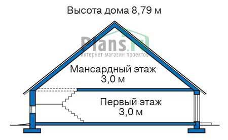 Проект кирпичного дома 72-41 план