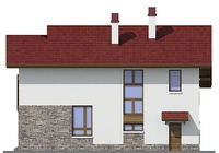Проект кирпичного дома 72-42 фасад