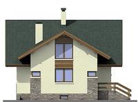 Проект кирпичного дома 72-43 фасад