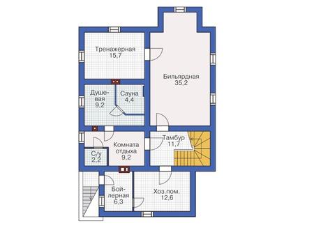 Проект кирпичного дома 72-43 план