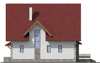Проект кирпичного дома 72-44 фасад