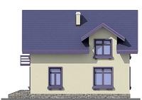 Проект кирпичного дома 72-45 фасад